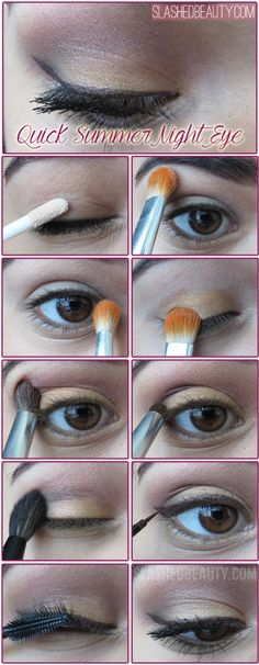 Quick Summer Night Eye Makeup Tutorial | Slashed Beauty | Click through for list of products used.