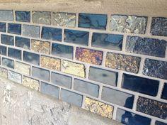 Image result for blue glazed brick tiles
