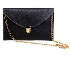 Snake Print Soft PU Leather Envelope Clutch Bag with Crossbody Chain Strap