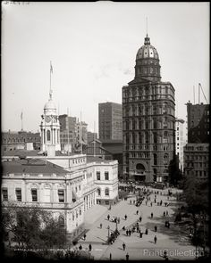 City Hall and World Building, New York. Photographed by the Detroit Publishing Company in 1905 on 8x10 glass plate negative.