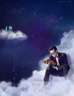 There's a man called the Doctor. He lives on a cloud in the sky...
