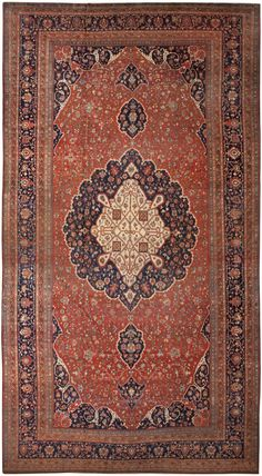 Antique Persian Farahan Sarouk Rug 46397 http://nazmiyalantiquerugs.com/antique-rugs/antique-product-type/antique-persian-farahan-sarouk-rug-46397/
