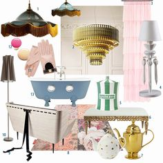 50's home decor that totally reminds me of Breakfast at Tiffany's (even though that was an early 60s movie I think). I love this!