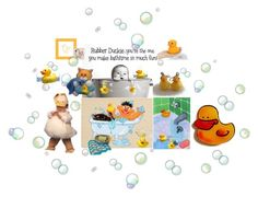 """""""Rubber duckie you're the one!"""" by sheila-ball ❤ liked on Polyvore featuring art and etsyevolution"""