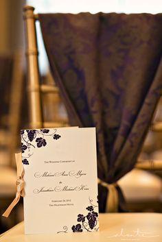 Wine Themed Wedding Program