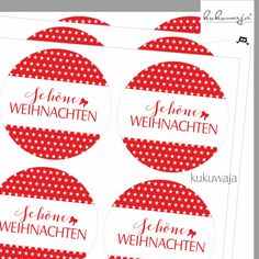 Deko und Accessoires für Weihnachten: Aufkleber Schöne Weihnachten Little Stars Rot made by kukuwaja  via DaWanda.com