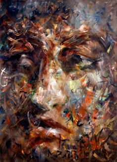 """This painting, """"Face,"""" is by Istanbul-based artist Atalay Mansuroğlu."""