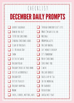 December Daily Prompts