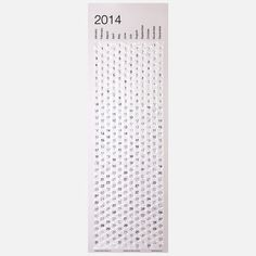 2014 Bubble Calendar, $22, now featured on Fab . . .but one could also easily make this. . .