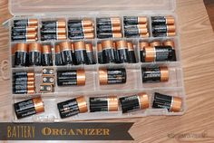 Battery Organizer - Organize yours today! madefrompinterest.net