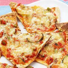 Atkins Mini Mexican Pizza Squares low-carb-recipes