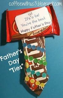 Fathers Day Candy Ties & Printable Tags by Coffee With Us 3 / Give him a tie he will really like