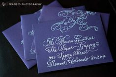Beautiful Wedding Envelope with Calligraphy