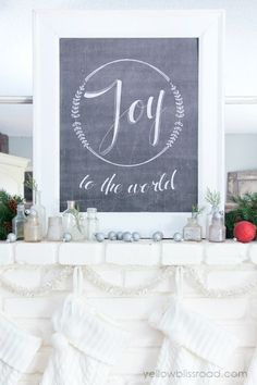 Lots of DIY Christmas decorating inspiration!