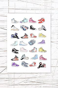 East End Prints: Trainers Wall Art - Urban Outfitters
