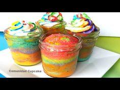 COMO HORNEAR CUPCAKES EN FRASCOS/JARROS DE VIDRIO |Pastel en Jarros| - YouTube