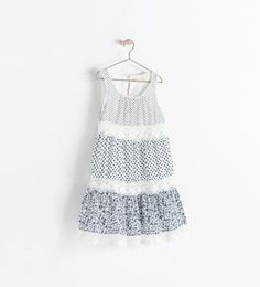 PRINTED FRILLY DRESS