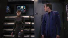 You've never received a withering look until you've received a Vulcan withering look!  T'Pol and Trip - Star Trek: Enterprise