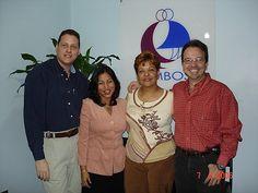 Opening Consultorio Grupo AMBOS. Sede Caracas. En la foto de izquierda a derecha: Eduardo Drachemberg, Idhaly Guzmán, Rosa García y Miguel Constenla (socios directores de Grupo AMBOS 2006-2010)