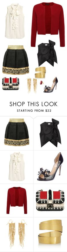 """My fantasy"" by explorer-14203770196 ❤ liked on Polyvore featuring Isa Arfen, H&M, Valentino, Jaeger, Panacea, Hervé Van Der Straeten and Monsoon"