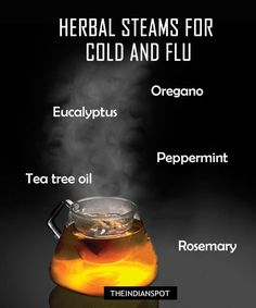 During the winter's cold and flu season, why not try a natural steaming herbs recipe for flu and cold symptoms instead of going for over-the-counter cold medications? Herbal steam treatments are fantastic at clearing up [. Chest Congestion Remedies, Sinus Infection Remedies, Asthma Remedies, Allergy Remedies, Headache Remedies, Herbal Remedies, Health Remedies, Sinus Congestion, Holistic Remedies
