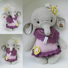 "228 Likes, 10 Comments - Marleen's by Daniela Groß (@marleensmadeforyou) on Instagram: ""I love these little elephant...für @kati.und.hanni pattern @amalou.designs  #crochetlove #crochet…"""