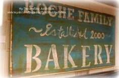 How to make a vintage family bakery sign | A Pop of Pretty: Canadian Decorating Blog