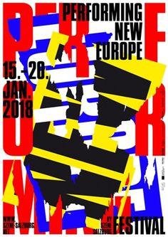 """poster/affiche by Beton studio (Austria/Autriche/Österreich) """"Performing New Europe"""" – torn paper/papier déchiré Plakat Design, Page Online, E Magazine, Torn Paper, Maker, Design Studio, Grafik Design, Salzburg, Illustration"""