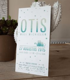 Geboortekaartje – Otis
