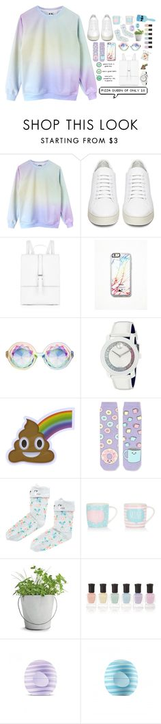 """""""Pastel collection ヾ(@⌒ー⌒@)ノ"""" by asivol00 ❤ liked on Polyvore featuring Off-White, Meli Melo, Free People, Movado, Topshop, Accessorize, Potting Shed Creations, Deborah Lippmann, Eos and Disney"""