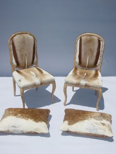 Los Angeles Made In Italy Buck Hide Chairs And Pillows By Cau D Ax