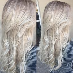 """Hair Color Trends 2018 – Highlights """"Ice blonde"""" Discovred by : Brooke Albers Blonde Makeup, Hair Makeup, Cool Blonde Hair Colour, Hair Color And Cut, Cool Toned Blonde Hair, Cool Ash Blonde, Icey Blonde, Baby Blonde Hair, Light Ash Blonde"""