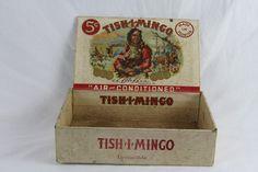 Antique Lithograph Art Tish-i-mingo Tishimingo Indian Warrior Paper Cigar Box SOLD
