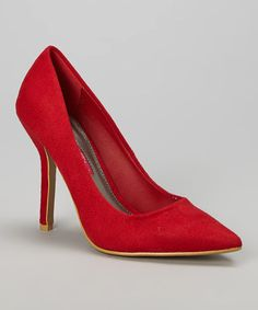 Look what I found on #zulily! Red Luxe Pump by C Label #zulilyfinds