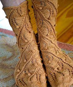 Fern Spiral Socks