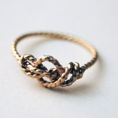 Sailor's Love Knot ring. Handknotted. Handformed. 14k Solid Gold. from Nested Yellow jewelry for $285.00 on Square Market