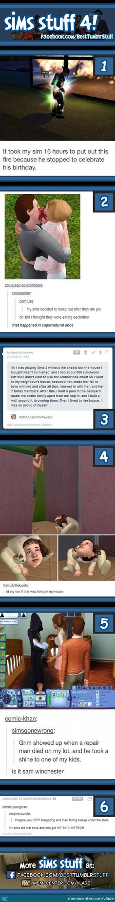 I love the Sims...i'm also a HUGE fan of the multiple Supernatural references @Jes Megan our fandom is HUGE!