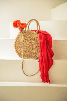 Panier CLAUDIUS  #terreetmer #été #cassis #roundiebag #sacosier Straw Bag, Basket, Bag