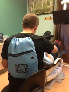 Dr. Roeder's fancy back pack!
