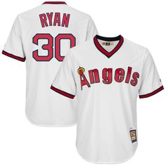 Nolan Ryan Los Angeles Angels Majestic Cool Base Replica Cooperstown Player Jersey - White