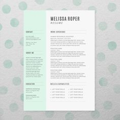 cv design cover letter instant download par brandconceptco sur etsy 1500 - Simple Resume Cover Letters