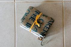 Set of 3 burlap zipper pouches by Lina and Vi Plymouth MI