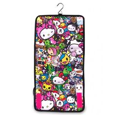 tokidoki x Hello Kitty Cosmetic Bag (€34) ❤ liked on Polyvore featuring beauty products, beauty accessories, bags & cases, toiletry kits, dopp bag, hello kitty makeup bag, makeup bag case and travel kit