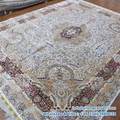 x Double Knots Persian Rug Made By Yilong. Silk Carpet, Carpet, Handmade Rug, Silk Rug, Handmade Rugs, Rugs, Persian Area Rugs, Home Decor, Rug Making