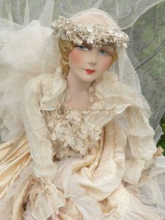 Antique French Boudoir Doll Paris Edwardian Wedding Fashion Doll C 1920 | eBay