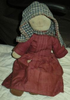 ANTIQUE EARLY 1900S ORIGINAL AMISH SOCK DOLL HANDMADE DRESS LANCASTER CTY PA vafo ANTIQUE EARLY 1900S ORIGINAL AMISH SOCK DOLL HANDMADE DRESS LANCASTER COUNTY PENNSYLVANIA vafo  GREAT ORIGINAL BUTTONS  THE DOLL HAS SOME WEAR FROM AGE & USE WITH SOME MINOR TEARS TO THE HAT AND DRESS.  SOME FADING.  MEASURES AROUND 14 INCHES TALL.
