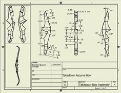 This thread shows how to make a takedown bow with laminated limbs but the plans for the riser are the most interesting point.