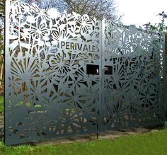More of Grace & Webb's latest laser cut installations - Grace & Webb - Bespoke laser cut screens and panels - built in street number.