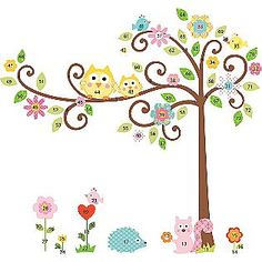 RoomMates Scroll Tree Peel & Stick MegaPack Wall Decals.....So sweet in a baby's nursery.