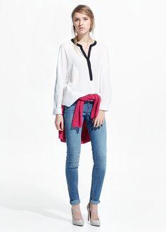 Flowy button blouse